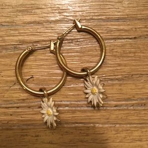 Kate Spade daisy drop earrings